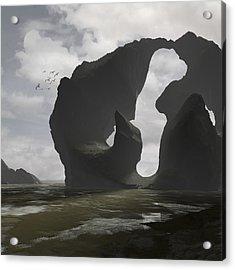 Low Tide Acrylic Print by Cynthia Decker