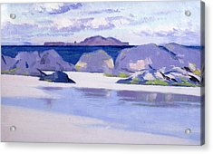 Low Tide  Iona Acrylic Print by Francis Campbell Boileau Cadell