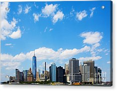 Lower Manhattan New York City Acrylic Print by Diane Diederich