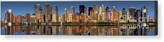 Lower Manhattan Skyline Acrylic Print by Susan Candelario