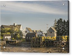 Lowtide In Port Clyde Maine Acrylic Print by Keith Webber Jr