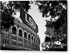 Lsu Through The Oaks Acrylic Print by Scott Pellegrin