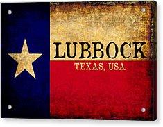 Lubbock Texas U.s.a. State Flag Vintage Acrylic Print by Karl Jones