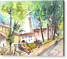 Lucca In Italy 03 Acrylic Print by Miki De Goodaboom