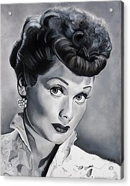 Lucille Ball Acrylic Print by Brian Broadway