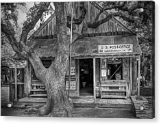 Luckenbach 2 Black And White Acrylic Print by Scott Norris