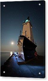 Ludington North Breakwater Lighthouse Acrylic Print by Adam Romanowicz
