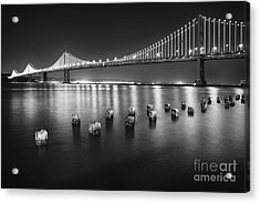 Luminous Bay Bridge  Acrylic Print by George Oze