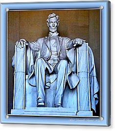 Luminous President Lincoln Acrylic Print by Danielle  Parent