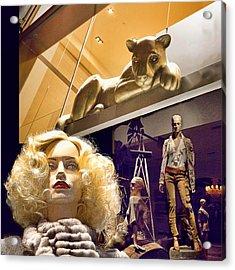Luna Goes Shopping Acrylic Print by Chuck Staley