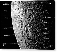 Lunar Craters Acrylic Print by Emilio Segre Visual Archives/american Institute Of Physics