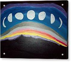 Lunar Phases Acrylic Print by Jimi Bush