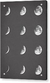 Lunar Phases Acrylic Print by Taylan Soyturk