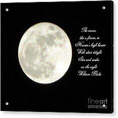 Lunar Verse Acrylic Print by Avis  Noelle