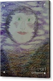 Luna's Smile Acrylic Print by Yve Hockenbury Moore