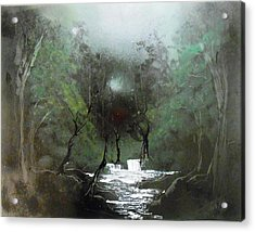 Lush Forest Acrylic Print by Aaron Beeston