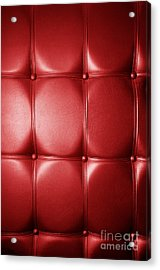 Luxury Genuine Leather. Red Color Acrylic Print by Michal Bednarek