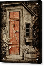 Luxury Outhouse Acrylic Print by Brenda Conrad