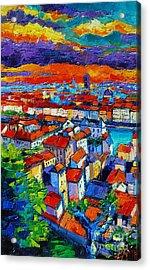 Lyon View 1 Acrylic Print by Mona Edulesco