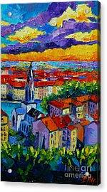 Lyon View 3 Acrylic Print by Mona Edulesco