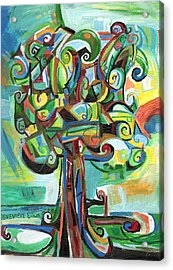 Lyrical Tree Acrylic Print by Genevieve Esson