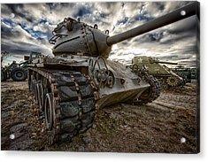 M-47 Tank Acrylic Print by Mike Burgquist