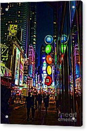 m and m store NYC Acrylic Print by Jeff Breiman