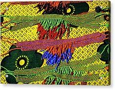 Maasai Beadwork Acrylic Print by Michele Burgess