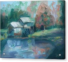 Mabry Mill Acrylic Print by Donna Tuten