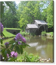Mabry Mill In May Acrylic Print by Diannah Lynch