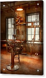 Machinist - A Lone Grinder  Acrylic Print by Mike Savad