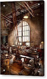 Machinist - I Like Big Tools Acrylic Print by Mike Savad