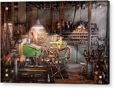 Machinist - It All Starts With A Journeyman  Acrylic Print by Mike Savad