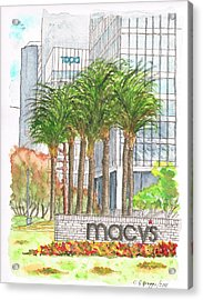 Macy's In Century City Mall - Beverly Hills - California Acrylic Print by Carlos G Groppa