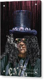Mad As A Hatter - Slash Acrylic Print by Reggie Duffie
