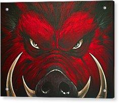 Mad Hog Acrylic Print by Glenn Pollard