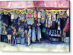 Mad Man Of Market And Main Singapore Acrylic Print by Gaye Elise Beda