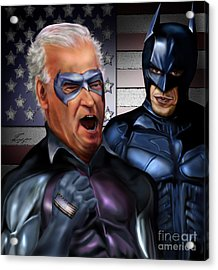 Mad Men Series 3 Of 6 - Obama And Biden Acrylic Print by Reggie Duffie