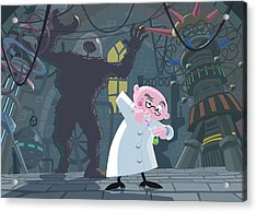 Mad Professor Experiment Acrylic Print by Martin Davey