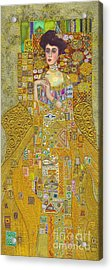 Madam Adele Bloch Bauer After Klimt Acrylic Print by Kate Bedell