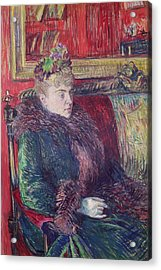 Madame De Gortzikoff, 1893 Oil On Canvas Acrylic Print by Henri de Toulouse-Lautrec