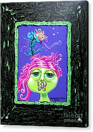 Mademoiselle Flutterby Acrylic Print by Genevieve Esson
