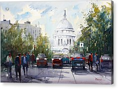 Madison - Capitol Acrylic Print by Ryan Radke