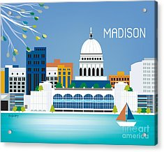 Madison Acrylic Print by Karen Young
