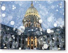 Madisonian Winter Acrylic Print by Todd Klassy
