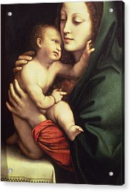 Madonna And Child Acrylic Print by Bernardino Luini