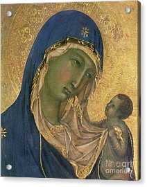 Madonna And Child  Acrylic Print by Duccio di Buoninsegna