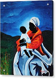 Madonna And Child First Words Acrylic Print by Patricia Brintle