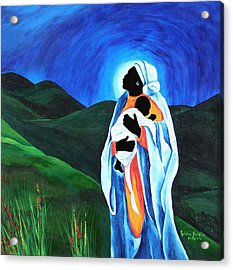 Madonna And Child  Hope For The World Acrylic Print by Patricia Brintle