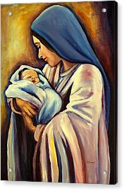 Madonna And Child Acrylic Print by Sheila Diemert